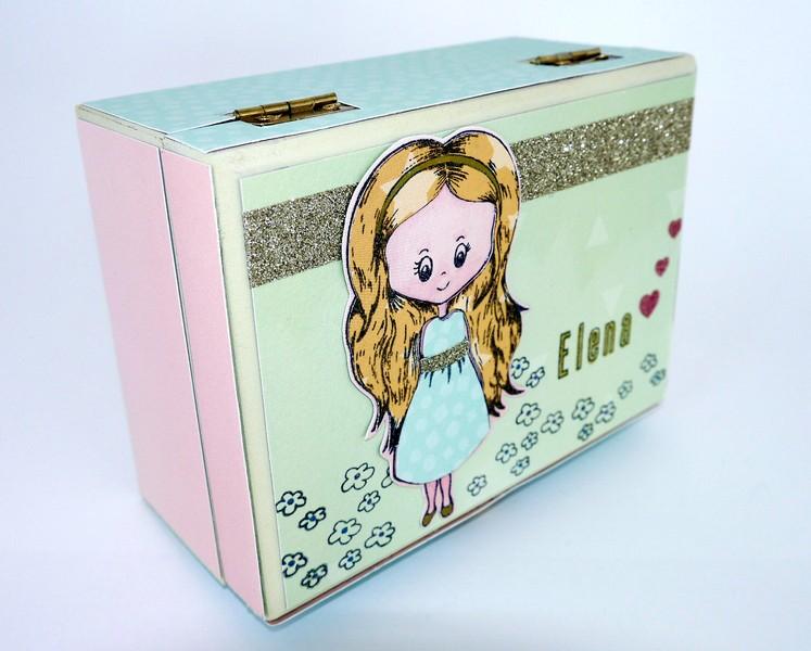Sarah Hurley Charm Street Cutie stamped trinket box