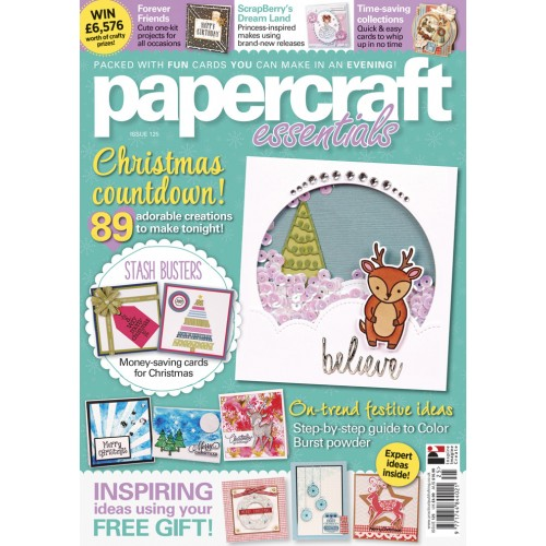 Papercraft Essentials 125 – Inspiration and free cover stamps