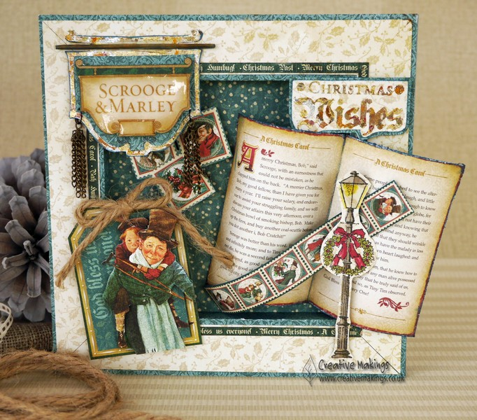 Graphic 45 A Christmas Carol, Box Frame Card