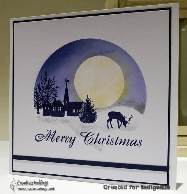 IndigoBlu – Stamped Winter Blue Christmas Card