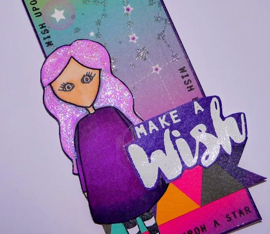 Sarah Hurley Doodle Doll Bookmark