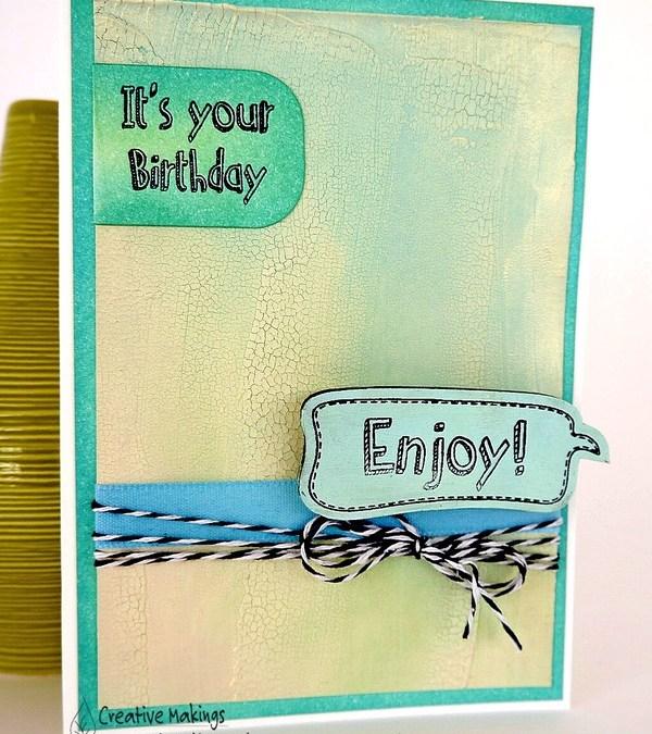 'Enjoy' your birthday – Creative Expressions