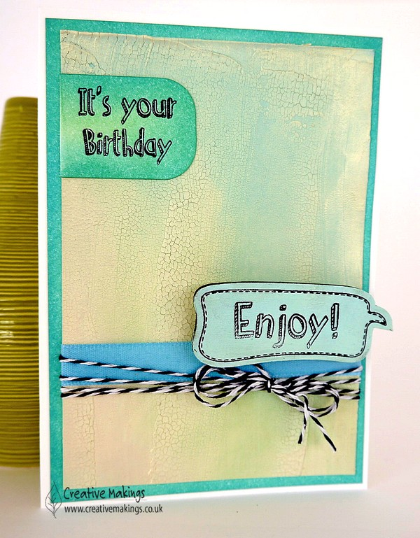 'Enjoy' your birthday – Creative Expressions