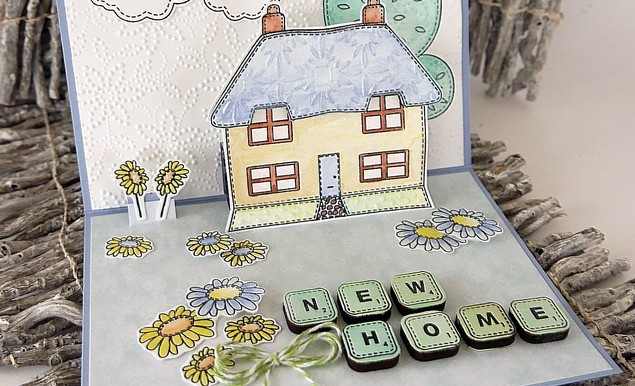 New Home Pop-Up card for Creative Expressions