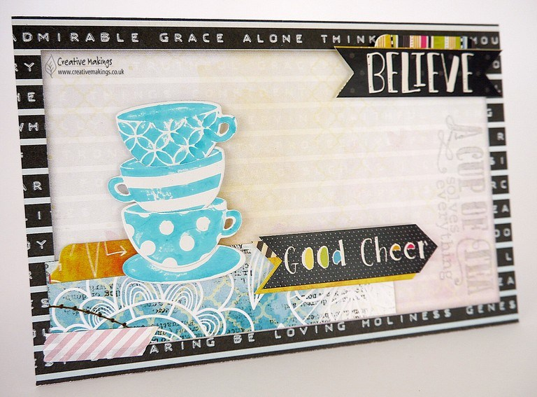 BoBunny 'Believe' collection – Greetings Cards