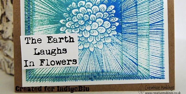 IndigoBlu Summer Florals reminder – Layering a stamp