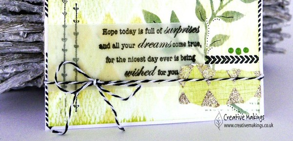 Distress Ink stencilled background