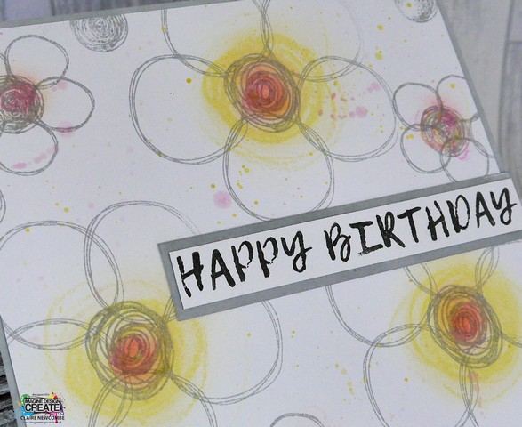Doodled Flowers with stamped circles for Imagine Design Create