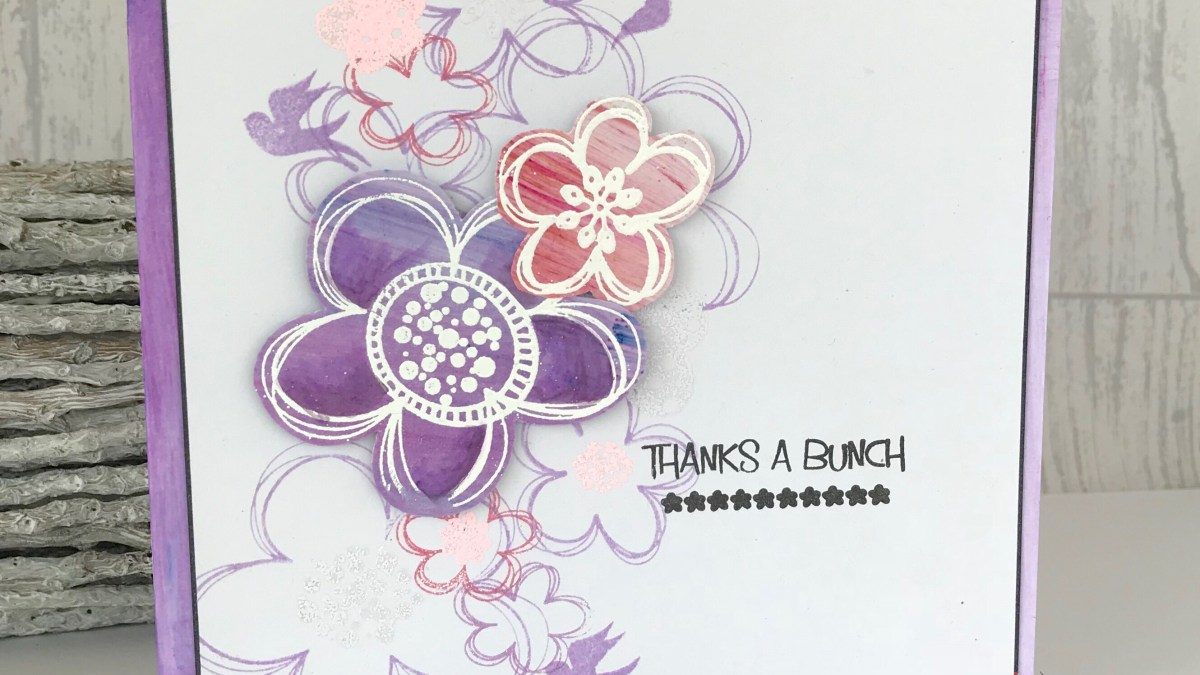 Flower birthday card ideas – Nesting stamps and Tonic Nuvo products