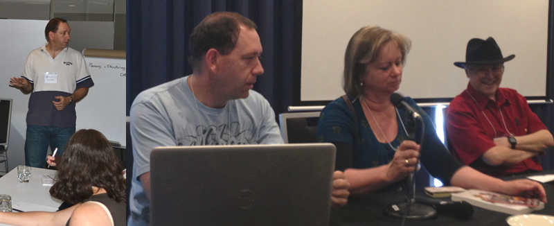 Giving a workshop and sitting on a panel - Conflux 2014