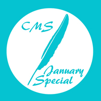 CMS January Special image with feather logo