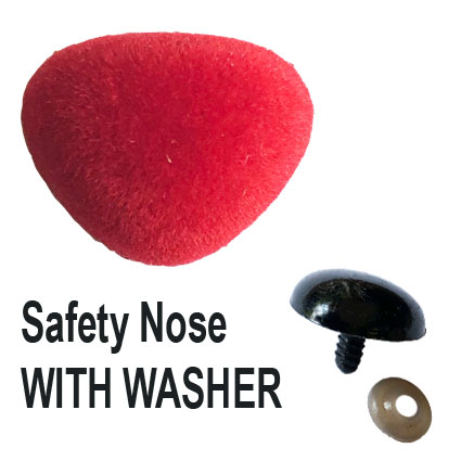 Red Velvet Safety Nose with Washer