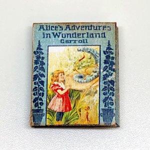 Allice in Wonderland Miniature Book for Dollhouse