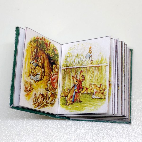 Flopsy Bunnies Miniature Book for Dollhouse by Beatrix Potter