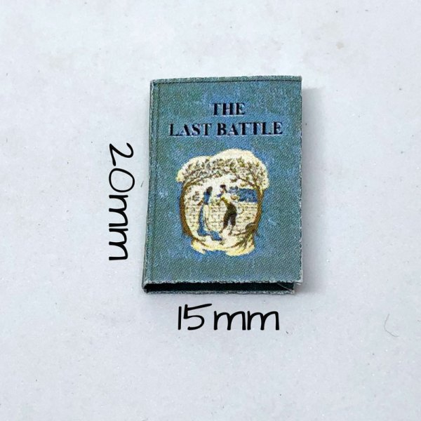 Miniature Chronicles of Narnia C.S. Lewis 1:12 scale dollhouse miniature books