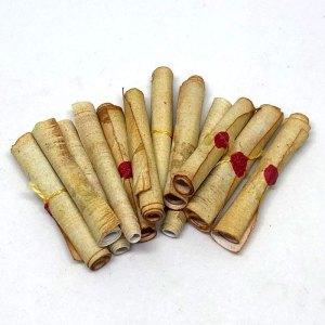 Dollhouse ancient miniature scrolls 1:12 scale
