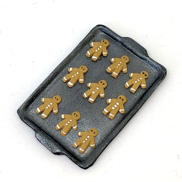 dollhouse food south africa miniature gingerbread men cookie sheet 1:12 scale