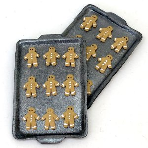 dollhouse food south africa miniature gingerbread men cookie sheet dollhouse kitchen