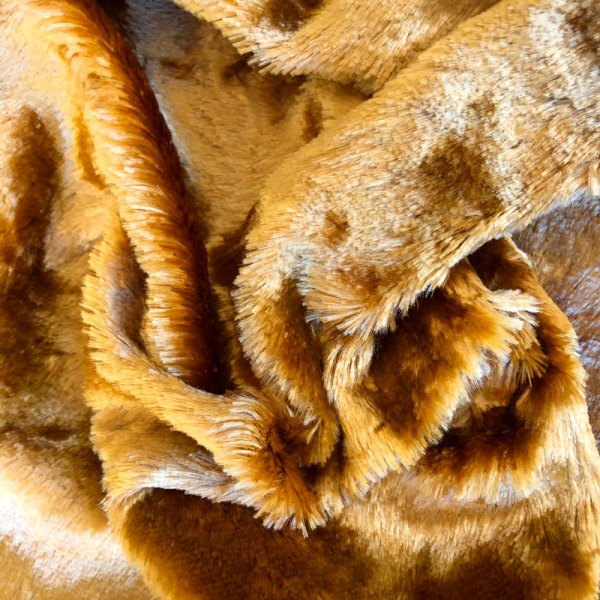 9mm Deep Gold Rayon Schulte Fabric Germany for Teddy Bears