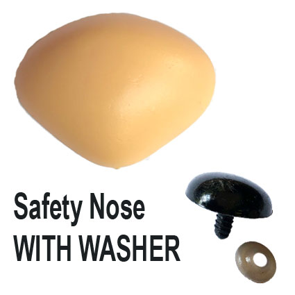 Peach Triangle Safety Nose Teddy Bear