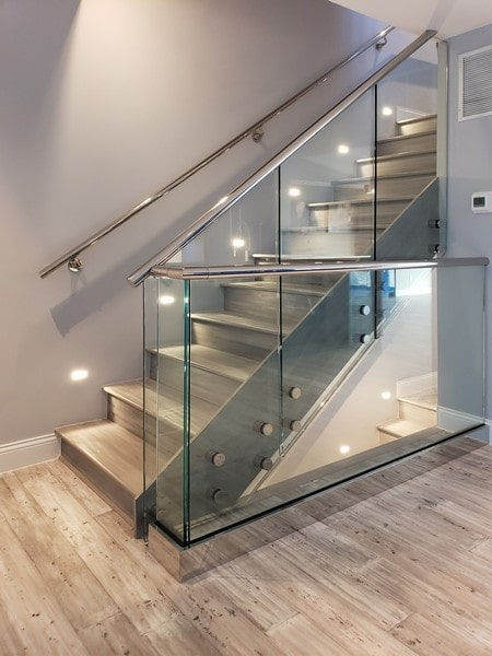 Glass Railings Creative Mirror Shower   Etched Glass Stair Panels   Bannister   Mirror   Tempered Glass   Duplex   Glass Etching