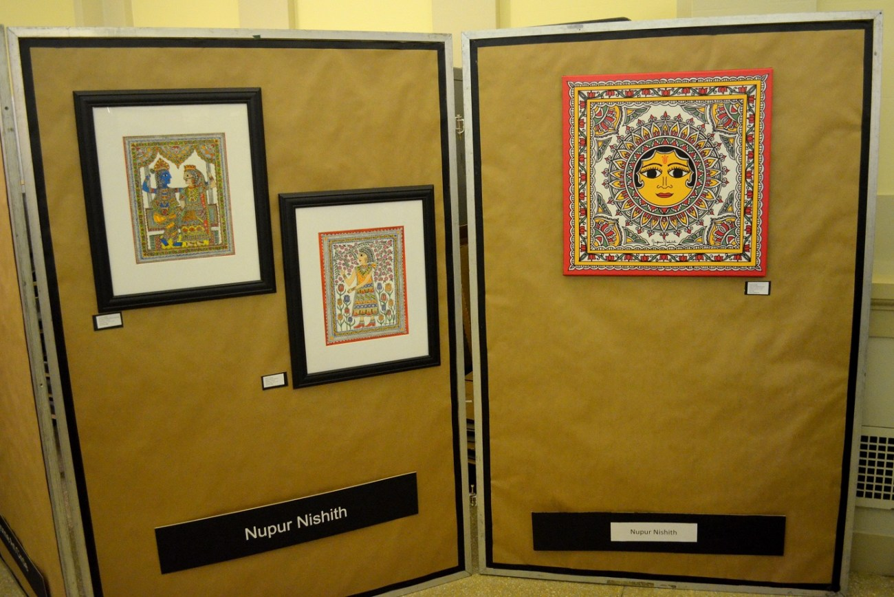 Mithila Paintings by Nupur Nishith at Spring Art Show in New Jersey
