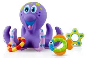 2. Nuby Octopus Hoopla Bathtime Fun Toys