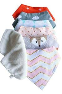 baby bibs with washcloths