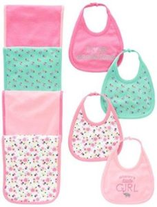 baby girl bibs with burp cloths