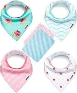 baby bibs with burp cloths