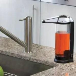 Hand free soap dispenser