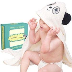 Bamboo viscose and cotton baby hooded towel