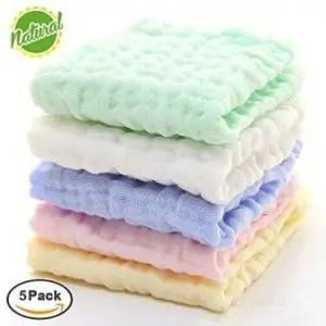 Natural organic baby washcloths
