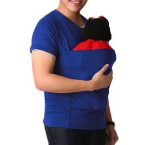 Men's Baby Carrier Sling Kangaroo Tees, Anxinke Casual Solid Short Sleeve Multifunction Dad T-Shirts