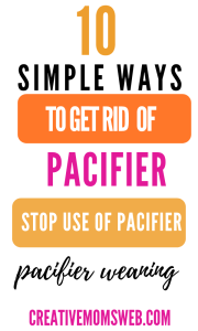 How to get rid of pacifier