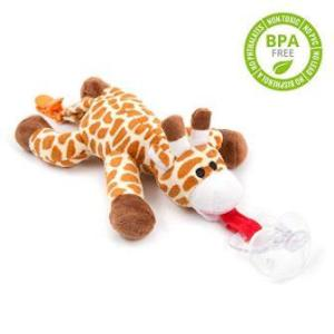 Pacifier with giraffe attached