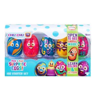Peek & Play Surprise Eggs by Chuchu TV: ABC Starter Set