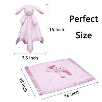 Pro Goleem Loveys for Babies Bunny Security Blanket