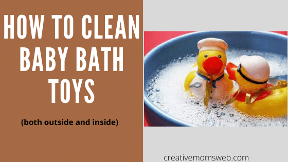 How to clean baby bath toys