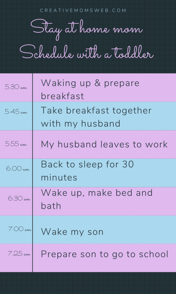 Stay at home mom schedule for a toddler