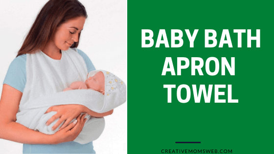 Baby apron bath towel with hood