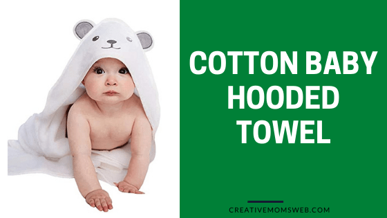 Cotton baby towel with hood