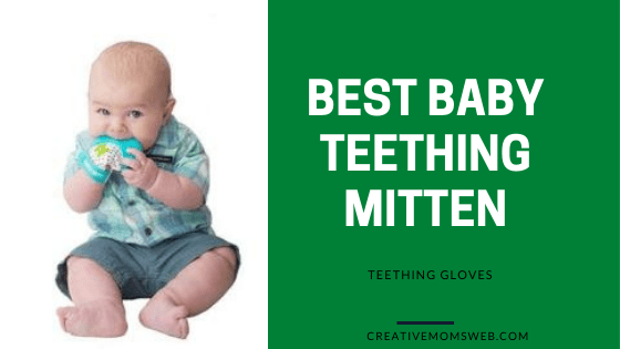 Baby teething mitten