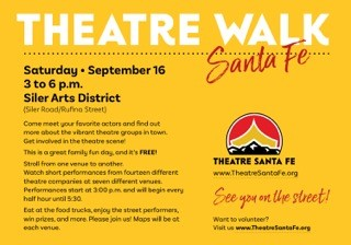 Theatre Santa Fe sponsors the first ever Theatre Walk!