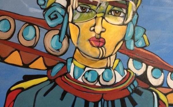 Two artists present Cruzando in the KiMo Theatre Art Gallery