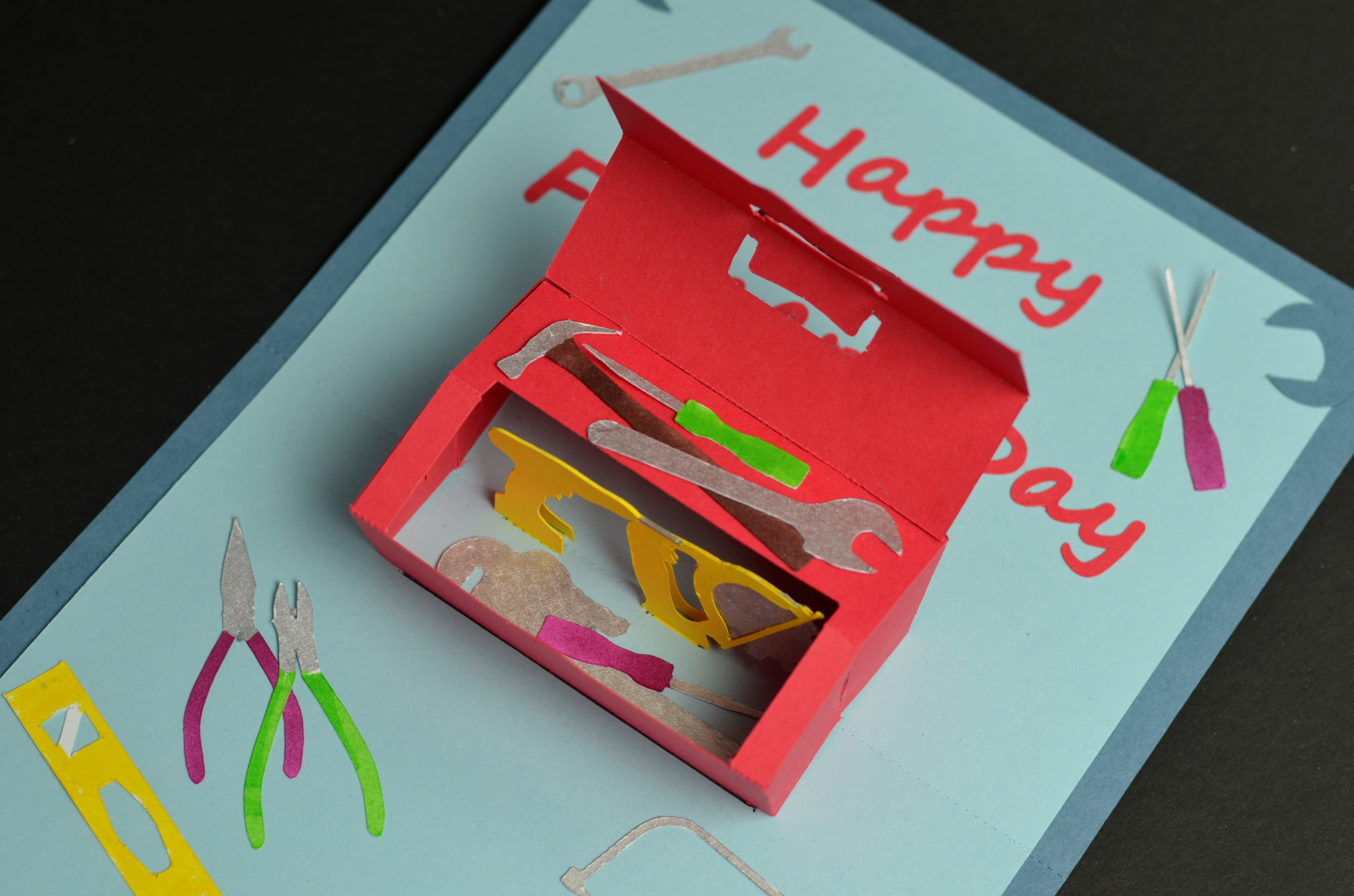 Toolbox Pop Up Card Template