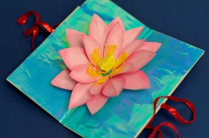 Mother's Day Lotus Flower Pop Up Card - Creative Pop Up Cards