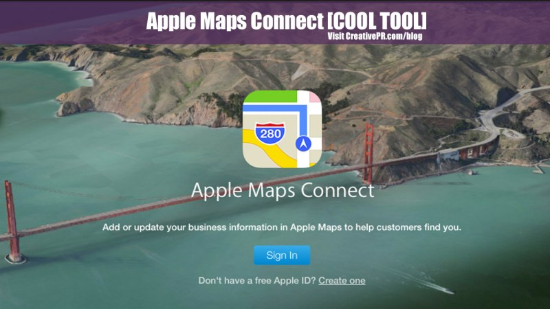 Apple Maps Connect - Cool Tool