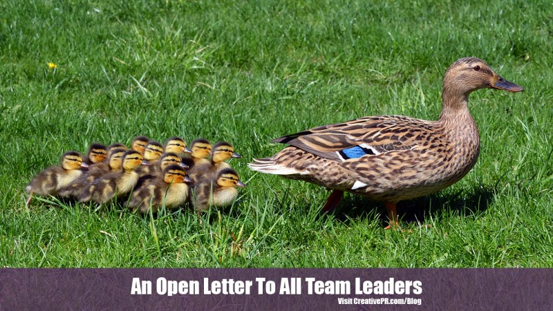 Open Letter To Team Leaders