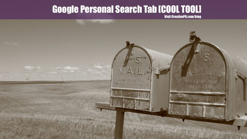 Google Personal Search Tab